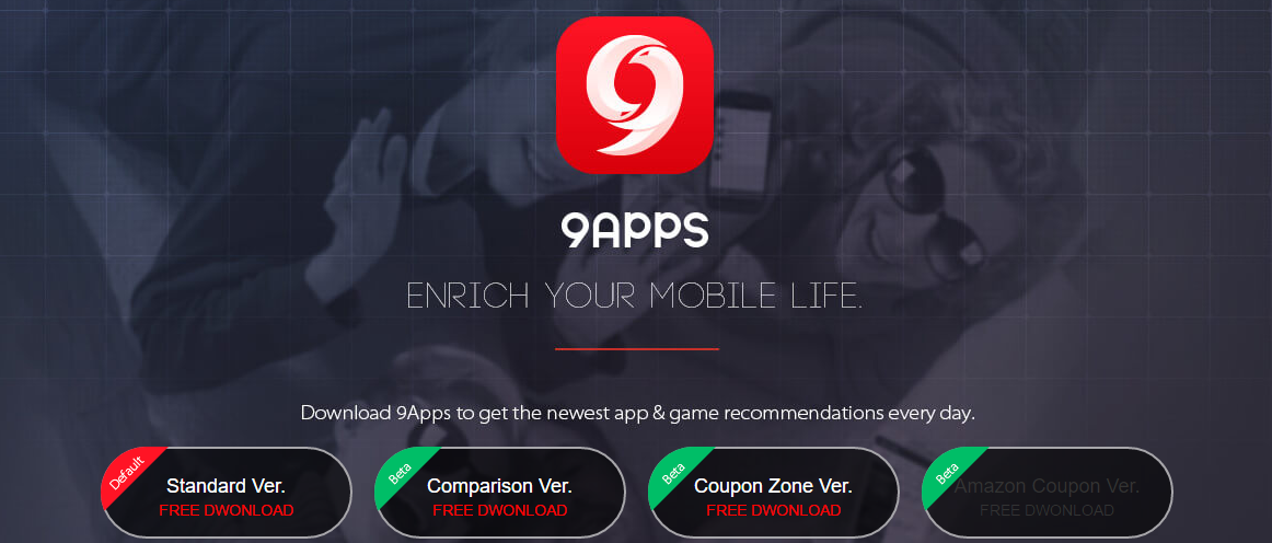 Enhance the process 9apps and download it from play store - Blue